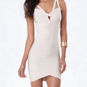 NWT Bebe Cream Colored Fallon Bandage Dress - Sm